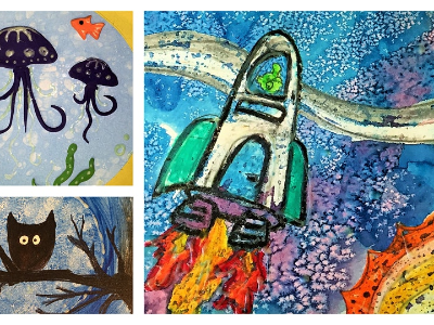Glow-in-the-Dark Art- Part II Mini-Camp (4-9 Years)
